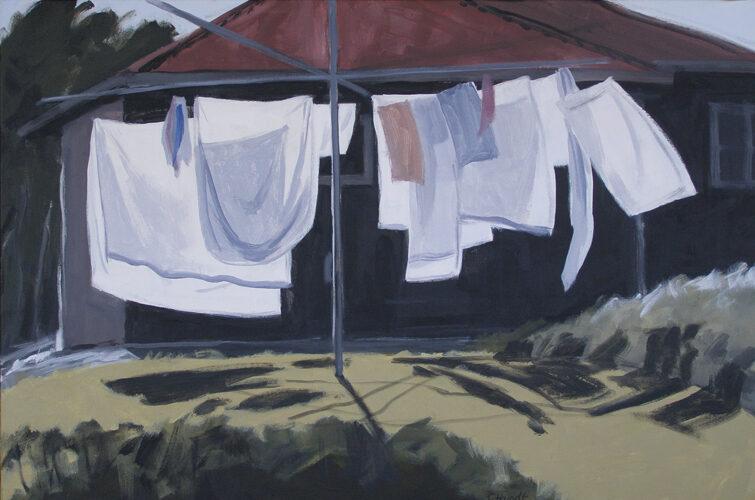 Bright Morning. Modern still life painting by Australian artist Chris Hundt. Top artist for quirky art