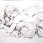 Puppy Love--- Solar Etching. Figurative art by by Australian artist Chris Hundt. Top artist for quirky art & narrative art. One of the modern Australian female artists & Australian painters.