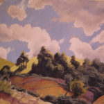 Morning Light, Dorrigo-- Pastel. Landscape painting. Australian landscape paintings by Chris Hundt. Top artist for quirky art & narrative art. One of the modern Australian female artists & Australian painters.